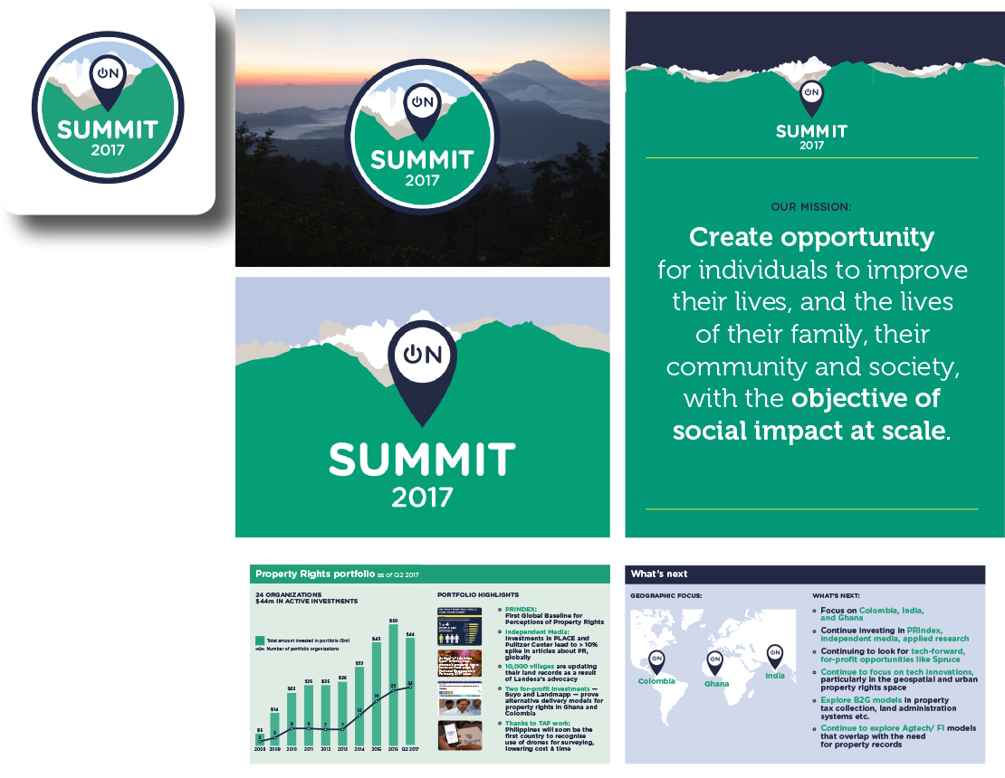 Omidyar Network - Summit 2017 - Branding